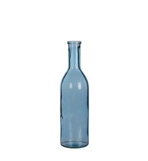 Rioja bottle glass l.blue - h50xd15cm