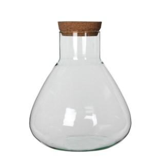 Emily storagepot transparent - h32xd29,5cm