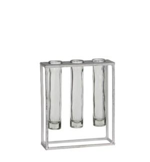 Matt test-tube holder white - l17xw6xh20cm