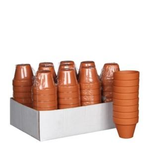 Stan pot round terra 8 pieces - h6xd7cm