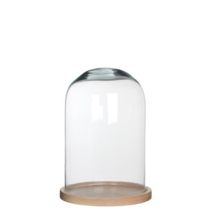Hella cover glass on plate l.brown - h30xd21cm