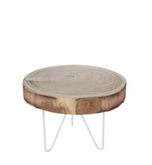 Table round l. brown - h30xd43cm