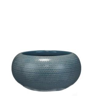 Gabriel bowl blue - h16xd32cm