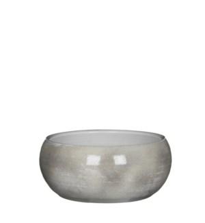 Lester bowl round l. grey - h12xd28cm