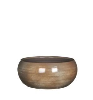 Lester bowl round d. brown - h12xd28cm