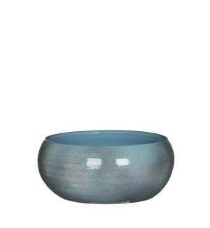 Lester bowl round blue - h12xd28cm
