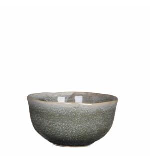 June bowl round grey - h7xd13,5cm
