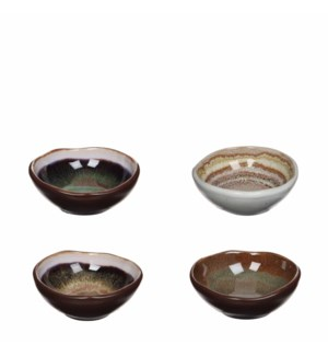 Todi bowl 4 assorted - h3,5xd8,5cm