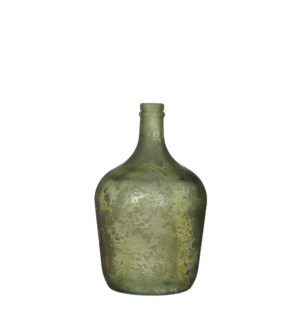 Diego bottle glass green - h30xd18cm