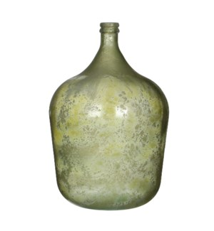 Diego bottle glass green - h56xd40cm