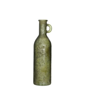 Rioja bottle glass green - h50xd15cm