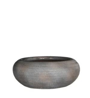 Ingmar bowl taupe relief - h11xd28cm