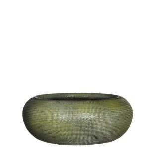 Ingmar bowl green relief - h11xd28cm