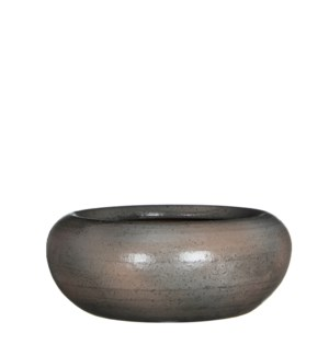 Ingmar bowl taupe shiny - h11xd28cm