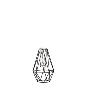 Single flower diamond black - l11xw10xh17cm