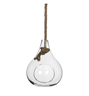 Sil vase hanging transparent - h25xd20cm