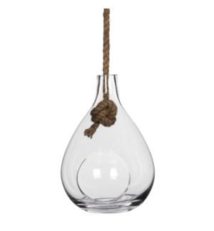 Sil vase hanging transparent - h30,5xd21,5cm