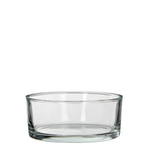 Kenny bowl round glass - h8xd19cm
