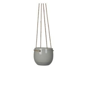 Resa hanging pot round l. grey - h11,5xd13,5cm