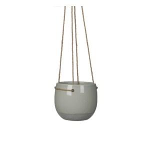 Resa hanging pot round l. grey - h13,5xd16,5cm