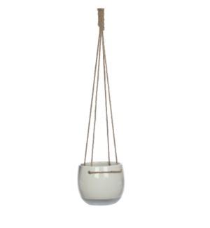 Resa hanging pot round white - h17xd18,5cm