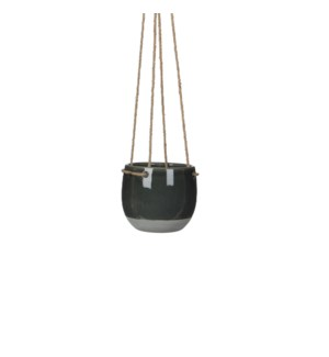 Resa hanging pot round d. grey - h11,5xd13,5cm