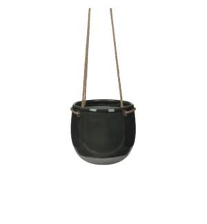 Resa hanging pot round d. grey - h17xd18,5cm