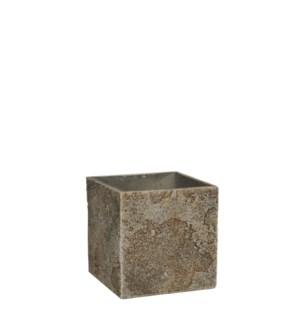 Antica pot square beige - l15xw15xh15cm
