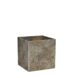Antica pot square beige - l18xw18xh18cm