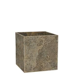 Antica pot square beige - l21xw21xh21cm