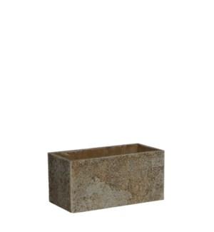 Antica pot rectangle beige - l23xw11xh11cm