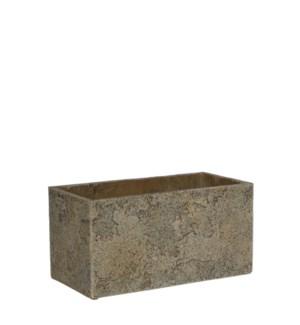 Antica pot rectangle beige - l28xw14xh14cm
