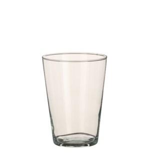 Clover vase conical glass - h20xd14cm