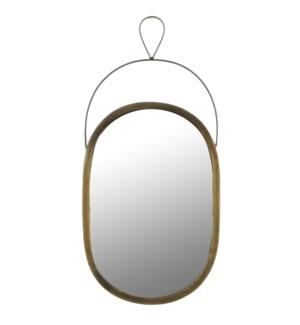 Nanne mirror oval glass brown - w23xh48cm