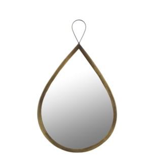 Nanne mirror drop glass brown - w24xh41cm