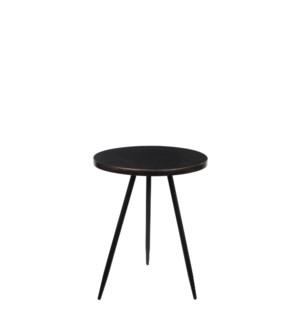 Table round black - h51,5xd40cm