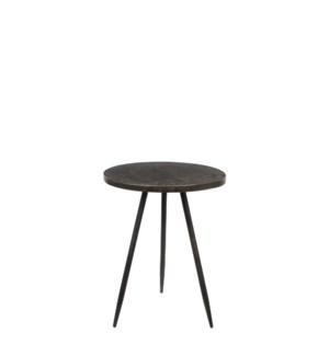 Table round bronze - h51,5xd40cm