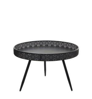 Table round black - h45,5xd70cm