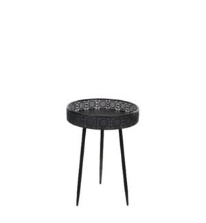 Table round black - h58xd40cm