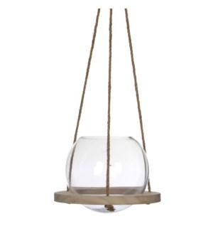 Vase hanging transparent - h23xd25cm