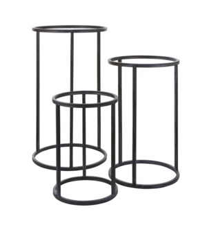 Cachet plant stand grey set of 3 - h75xd43cm