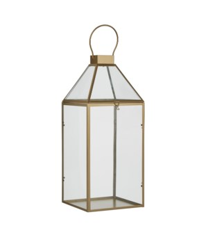 Alize lantern gold - l20,5xw19xh46,5cm
