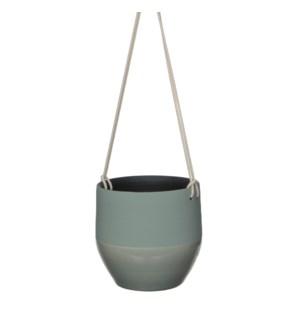 Kari pot hanging green - h18xd19cm