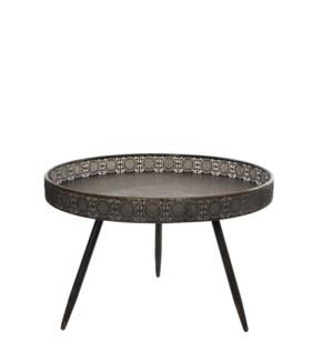Table round bronze - h45,5xd70cm
