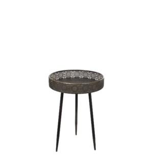Table round bronze - h58xd40cm