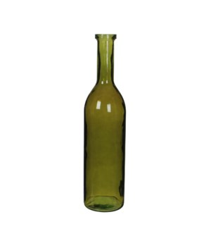 Rioja bottle glass green - h75xd18cm