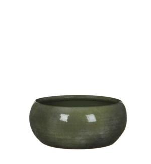 Lester bowl round green - h12xd28cm