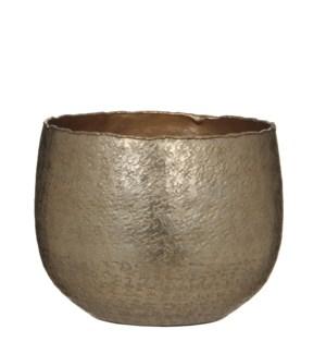 Capeno pot round gold matt - h15,5xd19,5cm