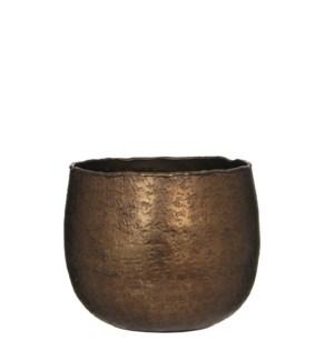 Capeno pot round bronze matt - h12,5xd14cm