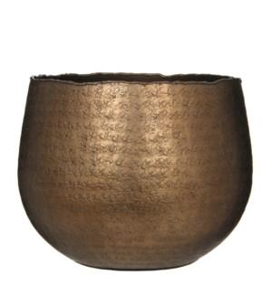 Capeno pot round bronze matt - h20xd24cm